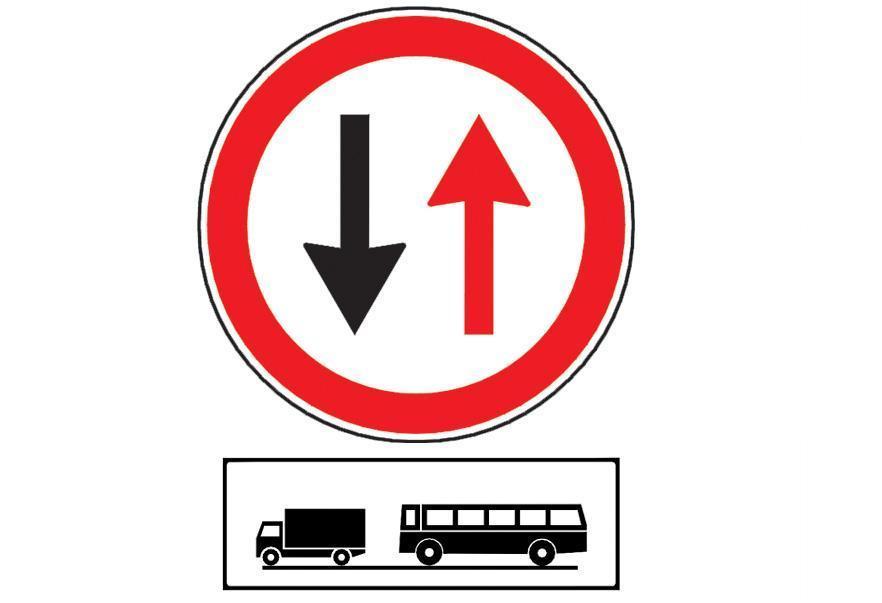 Care dintre urmatoarele obligatii va revin la intalnirea indicatorului alaturat, in timp ce conduceti un autocamion?