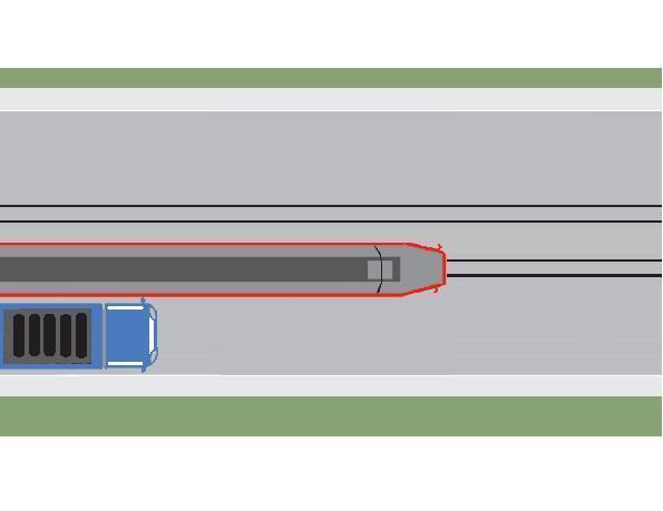 Conducatorul autocamionului din imaginea alaturata executa corect depasirea tramvaiului care se apropie de statie?