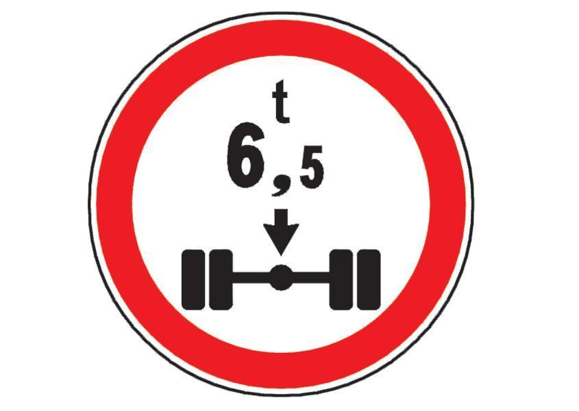 Indicatorul alaturat va interzice sa patrundeti cu autocamionul pe segmentul de drum la inceputul caruia este instalat, daca: