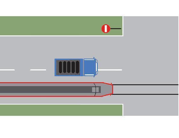 Depasirea tramvaiului din imagine este regulamentara?