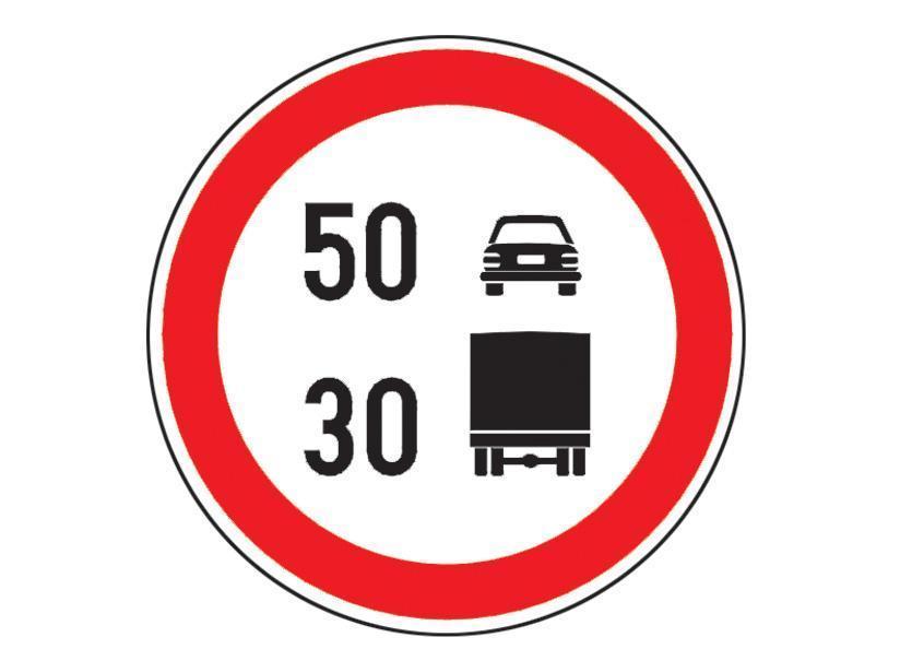 Va aflati la volanul unui autocamion si intalniti indicatorul alaturat. In aceasta situatie puteti folosi: