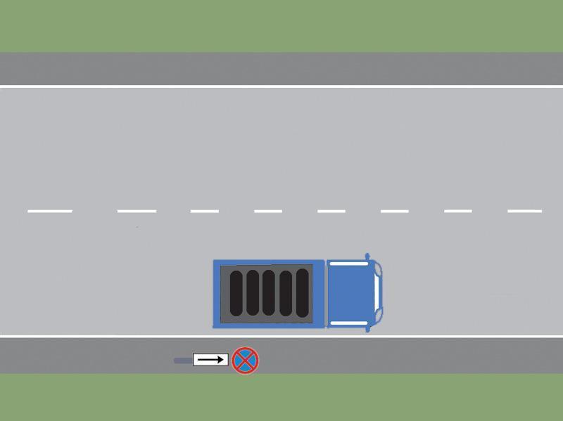 Camionul din imagine a oprit regulamentar?