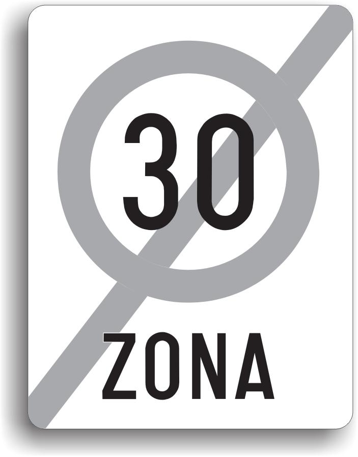 Este amplasat la sfarsitul zonei in care viteza de circulatie era limitata la 30km/h.