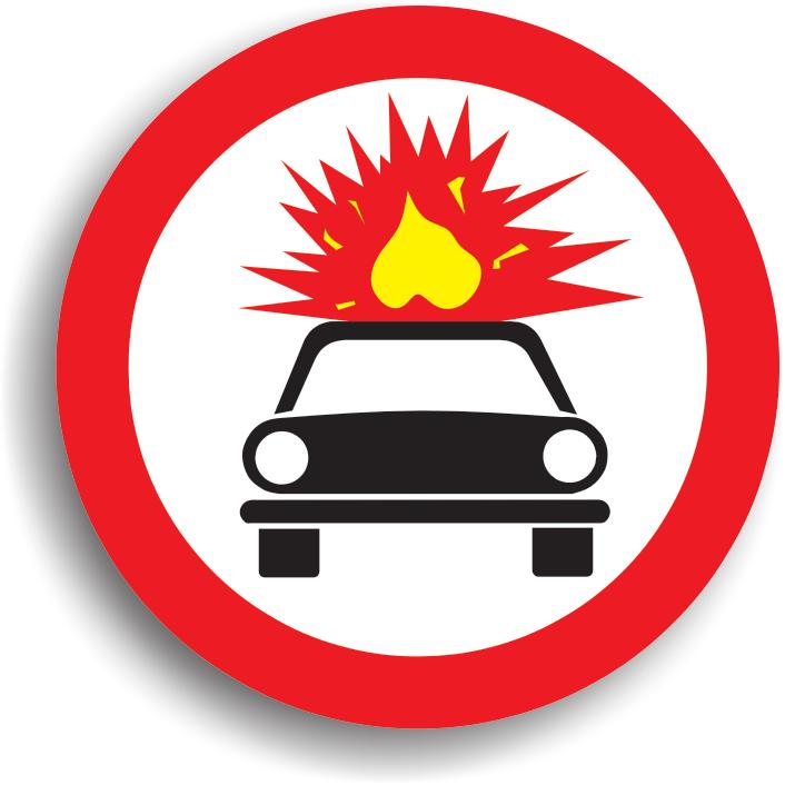 Se monteaza in locul in care accesul vehiculelor care transporta substante explozive sau usor inflamabile este interzis (in general in zonele intens populate sau in zonele unde prezenta unor astfel de substante ar constitui un pericol).