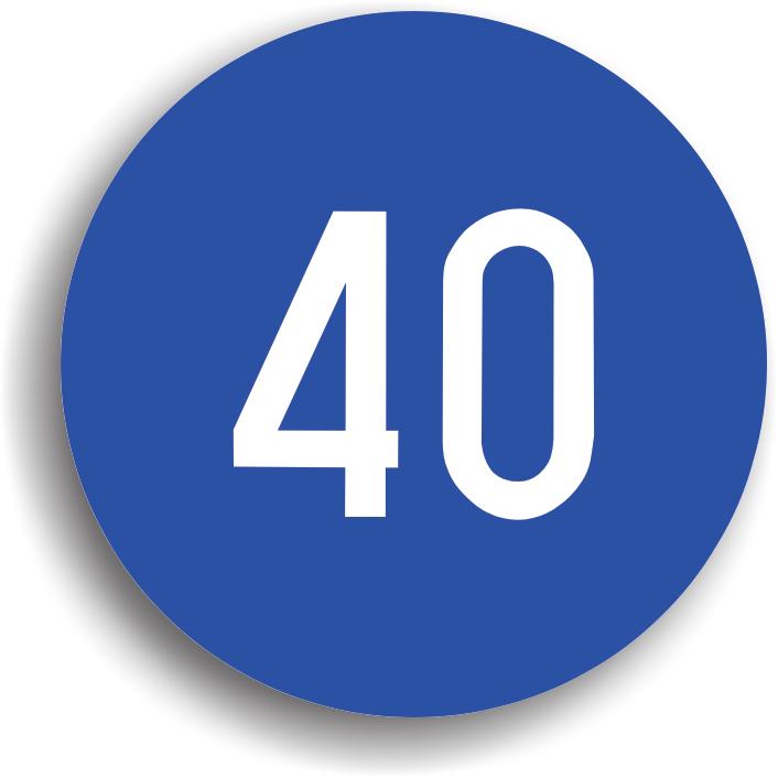 Se monteaza in zona in care se impune o viteza de circulatie minima. La intalnirea acestui indicator, conducatorul auto este obligat sa circule cu o viteza superioara celei inscriptionate pe indicator, dar mai mica decat cea maxima legala admisa pe sectorul de drum respectiv.