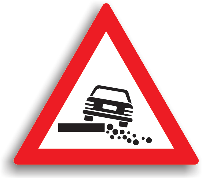 Intoarcerea este interzisa (soliditatea drumului nu permite).