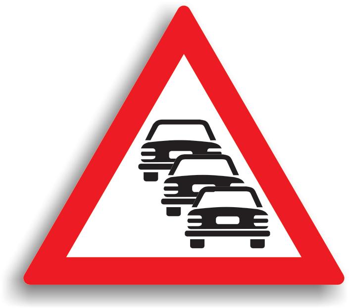 La intalnirea acestui indicator, conducatorul auto este obligat sa pastreze o distanta de siguranta fata de vehiculul care se deplaseaza in fata sa. Se amplaseaza pe drumurile publice pe care traficul este intens.