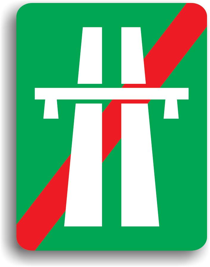 Acest indicator se monteaza la iesirea de pe o autostrada.
