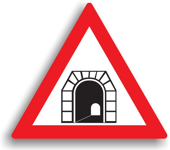 Se gaseste la 50-200 m de intrarea in tunel. In tunel, conducatorul auto preventiv, poate sa reduca viteza si toate manevrele (depasirea cu exceptia motocicletelor fara atas, vehiculelor fara motor si ciclomotoarelor, cand vizibilitatea este peste 20 m. iar latimea drumului mai mare de 7 m., oprirea, stationarea, mersul inapoi, intoarcerea) sunt interzise. In cazul imobilizarii in tunel, conducatorul auto este obligat sa opreasca motorul si sa semnalizeze prezenta autovehiculului.
