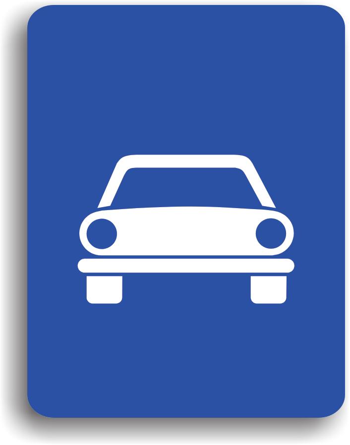 Se afla amplasat la intrarea pe drumurile pe care este permisa doar circulatia autovehiculelor.