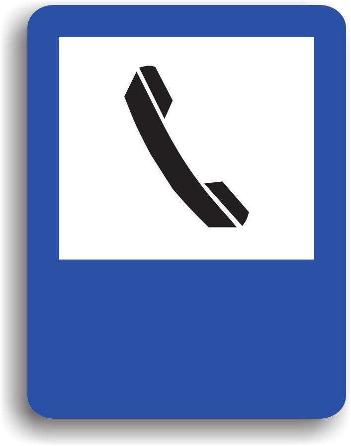 Are rolul de a indica conducatorului auto ca in apropiere se afla un telefon public.