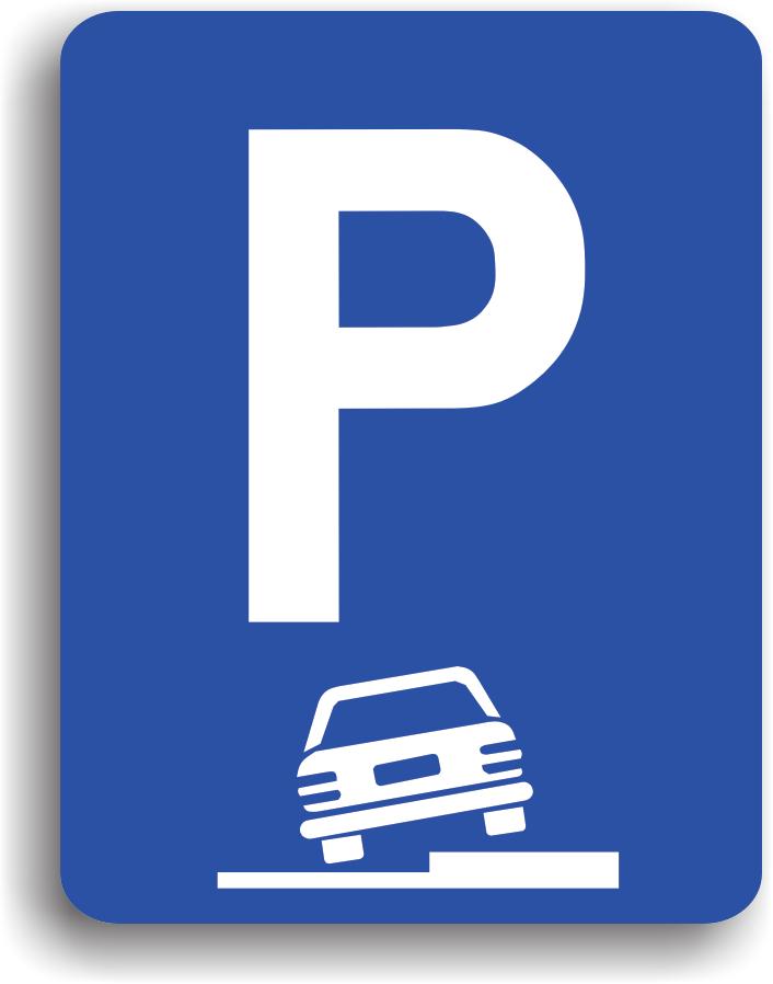 Are rolul de a informa conducatorul auto ca in apropiere se afla un spatiu destinat parcarii. Pe indicator pot fi inscriptionate anumite reguli stabilite de administratorul responsabil.