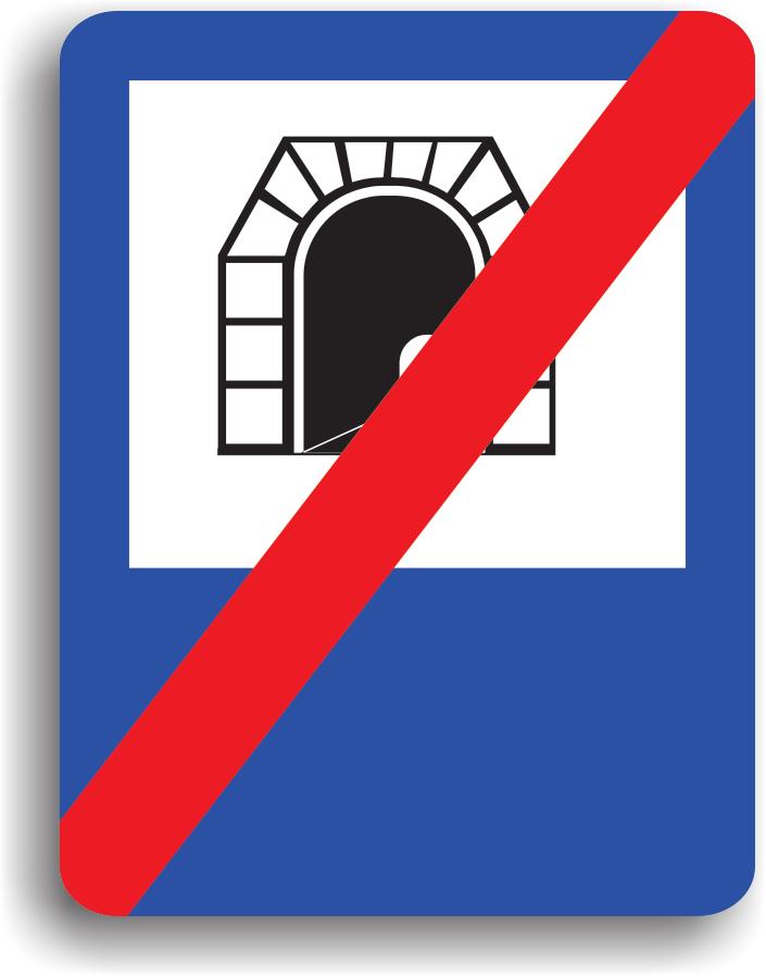 Indicatorul se instaleaza la iesirea dintr-un tunel, marcand terminarea acestuia.