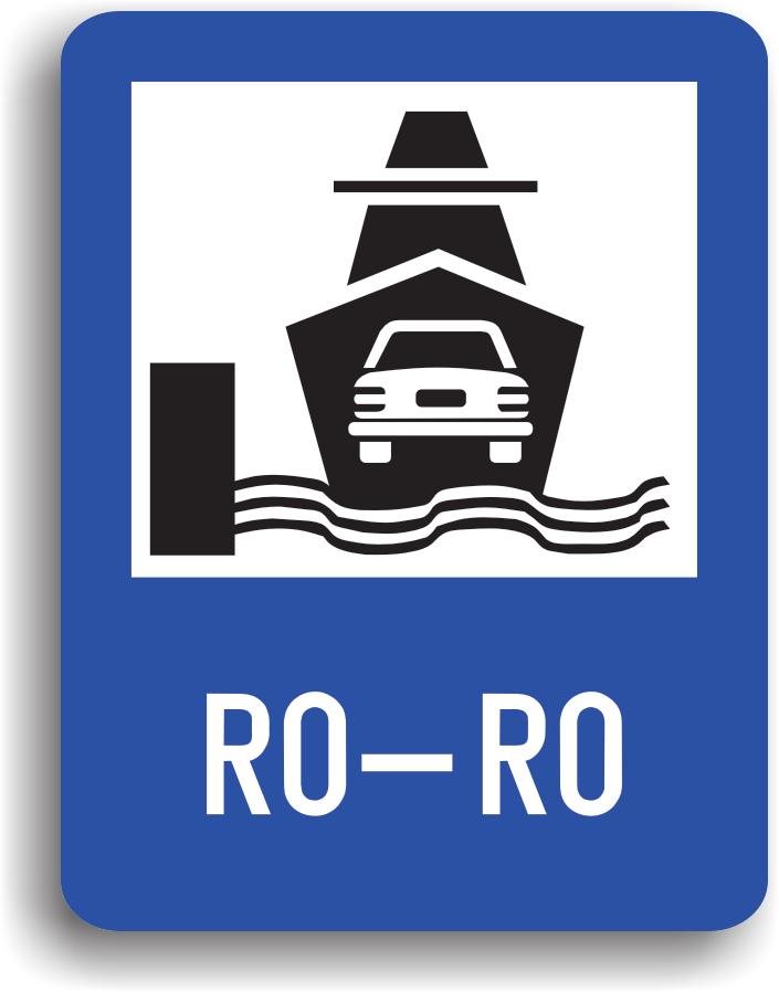 Conducatorul auto va intalni acest indicator in zona de imbarcare pe ferry-boat. La intalnirea acestui indicator conducatorul auto trebuie preventiv sa reduca viteza si sa circule cu atentie sporita.