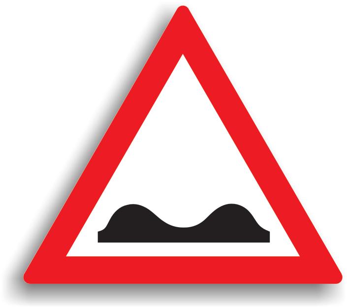 Se amplaseaza la 50-200 m de locul periculos. Daca lungimea sectorului de drum depaseste 0,3 km, indicatorul este insotit de un panou aditional pe care este specificata lungimea sectorului de drum cu denivelari. La intalnirea acestui indicator conducatorii auto sunt obligati sa reduca viteza la max. 30 km/h in localitate si max. 50 km/h in afara localitatii.