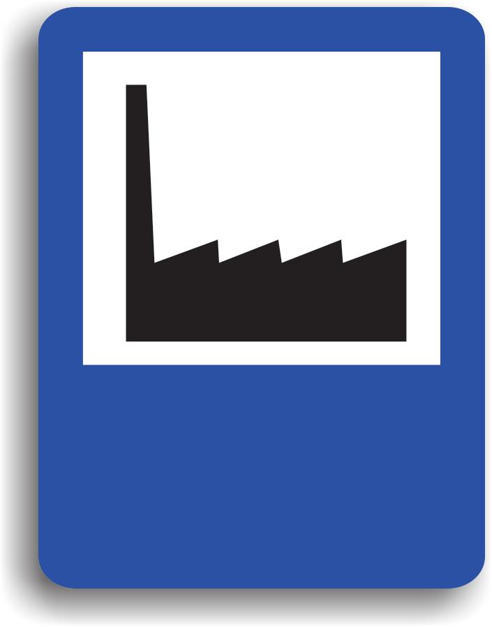 Se instaleaza in apropierea unei zone industriale. Pe indicator poate fi scrisa si distanta in metri pana la aceste zone.