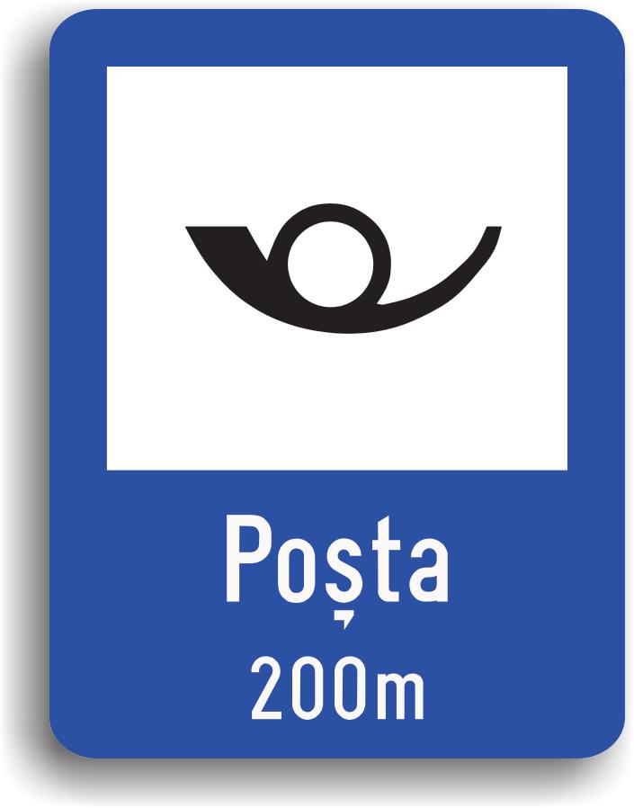 Acest indicator se monteaza la 200 m de o posta.