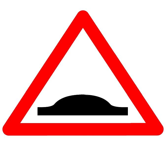 Indicatorul rutier se întâlnește în zonele cu școli, grădinițe, treceri pentru pietoni, sectoare de drum îngustat, etc. Conducătorul auto este obligat să reducă viteza până la 30 km/h în localități și 50 km/h în afara acestora.