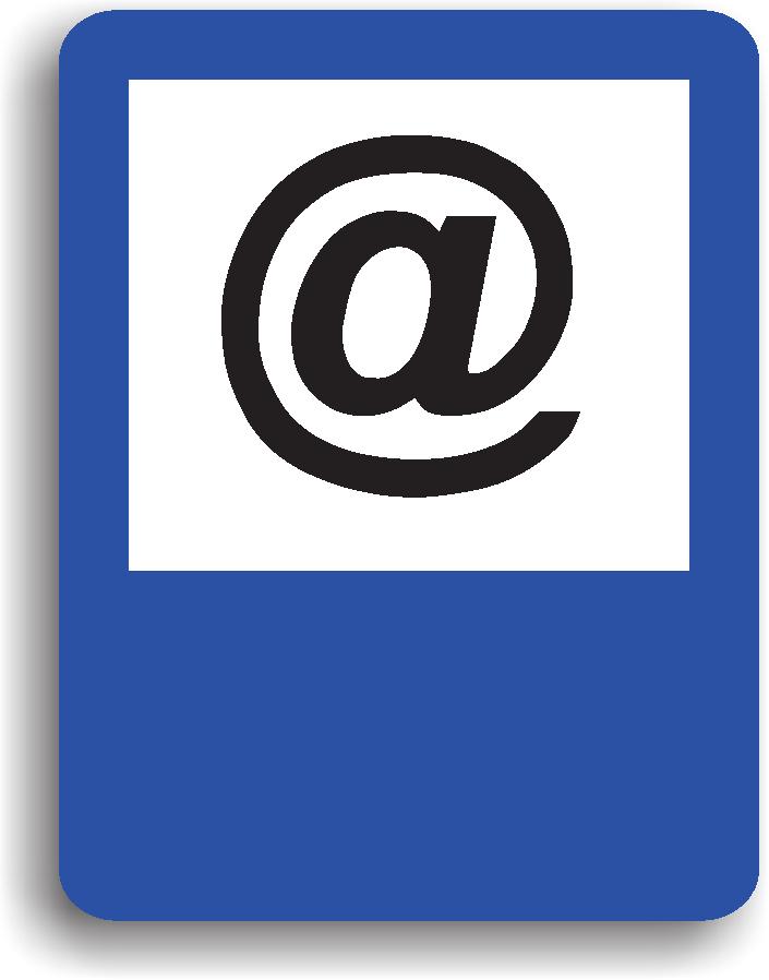 Se amplaseaza in apropierea unui centru cu acces la internet. Pe indicator poate fi inscriptionata si distanta la care se afla.