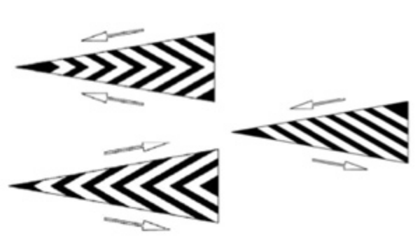 Marcajul aplicat in afara benzilor, format din linii paralele, inconjurate sau nu cu o linie de contur, delimiteaza spatiul interzis circulatiei.