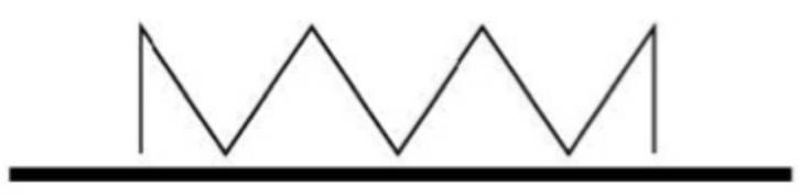 Marcajul format dintr-o linie in zigzag semnifica interzicerea stationarii vehiculelor pe partea drumului pe care este aplicat. Marcajul prin linie continua galbena aplicat pe bordura trotuarului sau pe banda de consolidare a acostamentului, dubland marcajul de delimitare a partii carosabile spre exteriorul platformei drumului interzice stationarea vehiculelor pe acea parte a drumului. Cand o asemenea linie insoteste un indicator de interzicere a stationarii, aceasta precizeaza lungimea sectorului de drum pe care este valabila interzicerea.