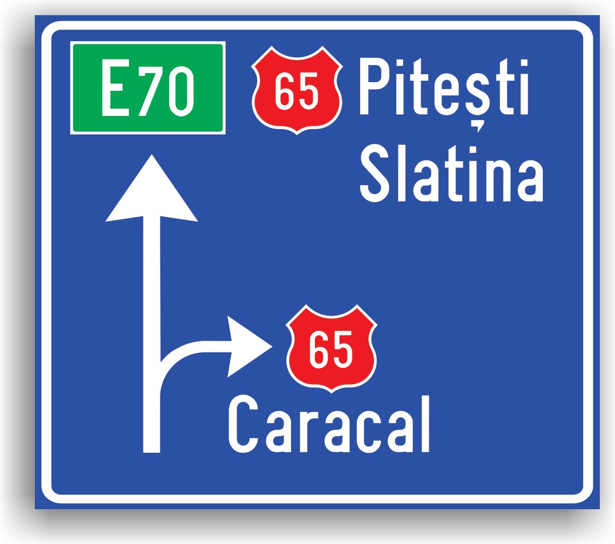 Este instalat la 100-200 m de o intersectie de drumuri. In general, se instaleaza la intersectii de drumuri judetene, nationale sau la intersectii de drumuri nationale cu drumuri judetene.