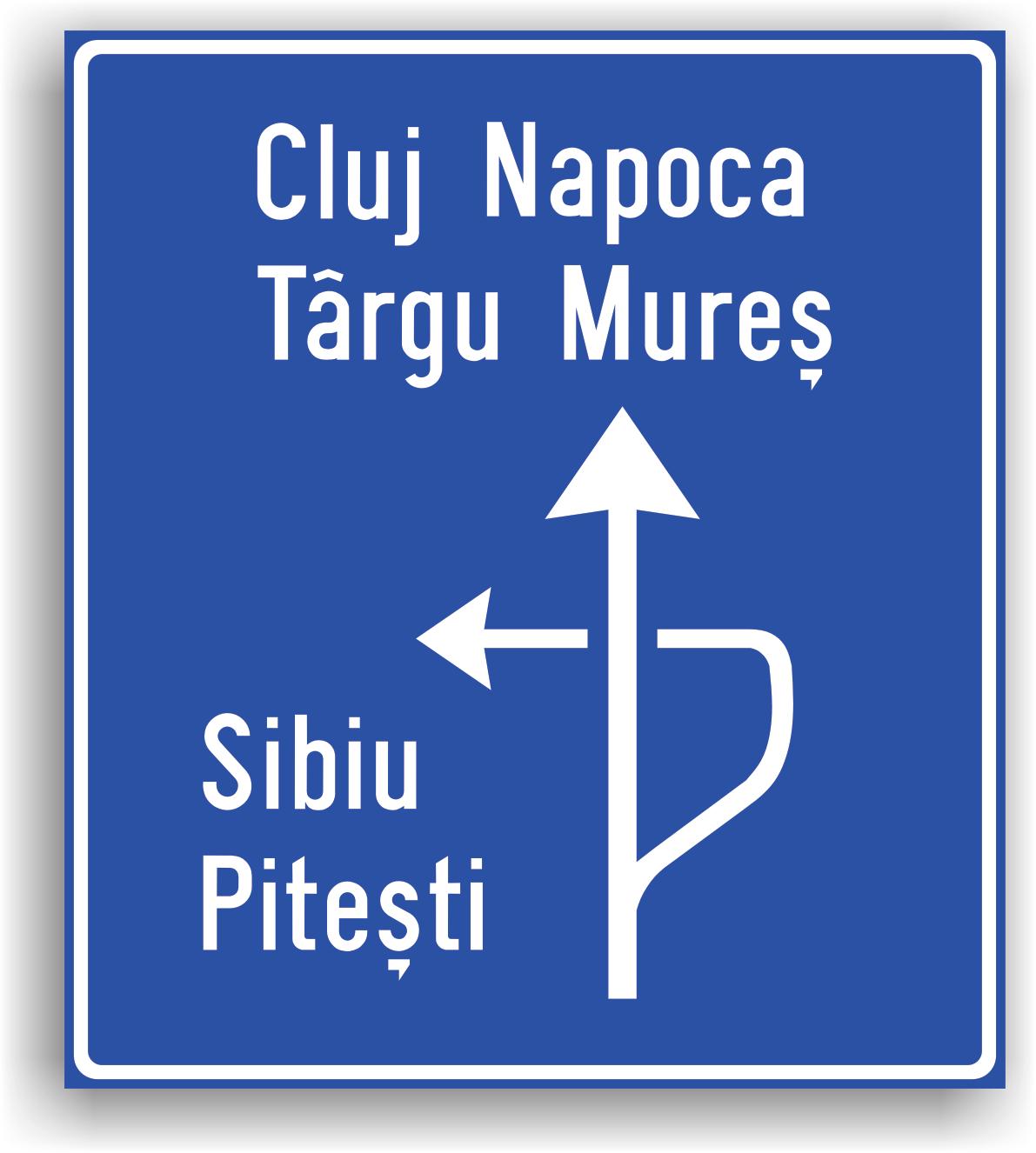 In localitate se amplaseaza la 50-100 m de intersectia denivelata de drumuri, iar in afara localitatii la 100-200 m. In general, se instaleaza la intersectii de drumuri judetene, nationale sau la intersectii de drumuri nationale cu drumuri judetene.