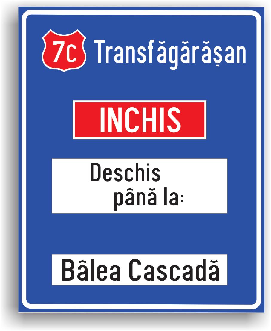 Se instaleaza pe drumurile publice pentru a-i informa pe conducatorii de vehicule daca un drum este deschis sau nu circulatiei publice.