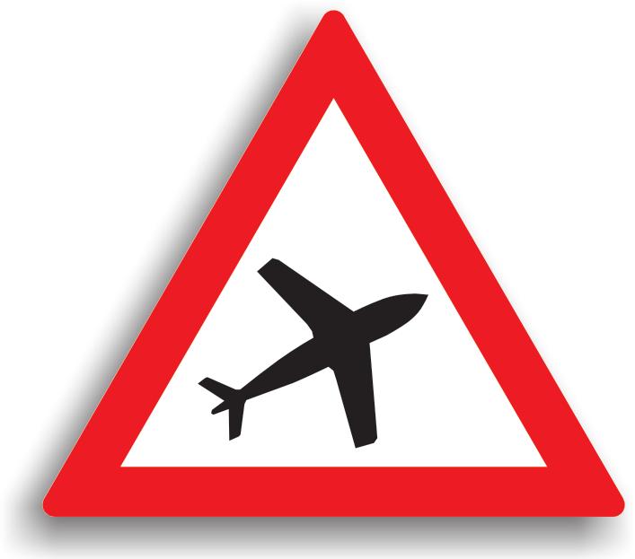 Se amplaseaza pe drumurile publice ce trec pe sub culoarele aeriene din apropierea aeroporturilor, pentru a atentiona conducatorul auto de zgomotul puternic sau de zborurile la joasa inaltime a avioanelor.