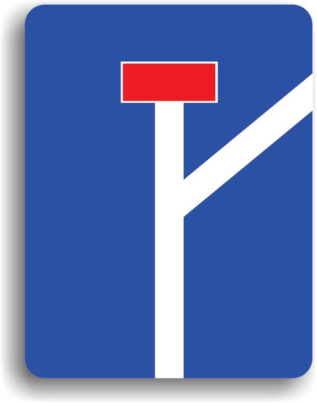 Se amplaseaza la intersectia drumului public cu un drum fara iesire.