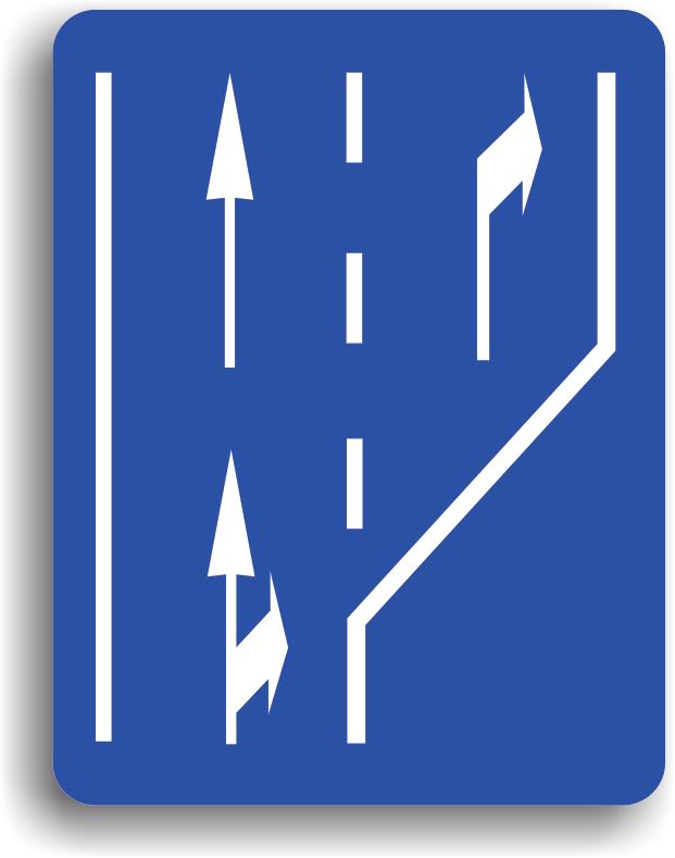 Se instaleaza pe drumurile publice, cu mai multe benzi pe sens, pentru ca soferii sa se poata incadra din timp pe banda corespunzatoare directiei de mers pe care vor sa o urmeze.