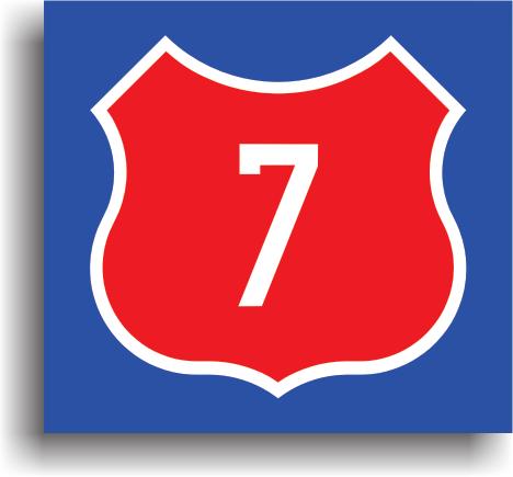 Are rolul de a confirma ca drumul pe care se afla conducatorul auto este un drum national. Numarul inscriptionat pe indicator reprezinta numarul drumului national.
