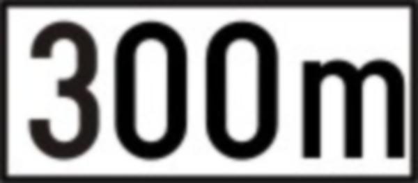 Indica distanta de la indicatorul impreuna cu care este montat pe drumurile publice, pana la inceputul locului la care se refera respectivul indicator.