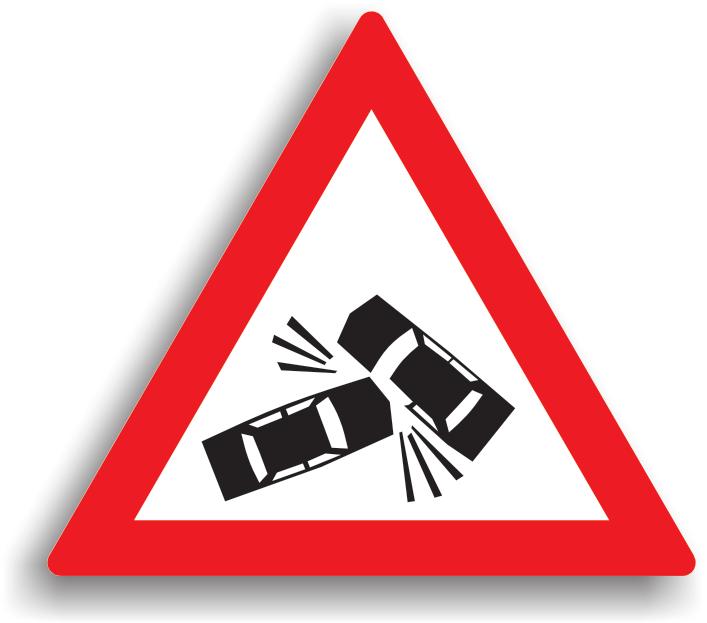 Este un indicator care modifica regimul normal de desfasurare a circulatiei. Conducatorul auto este obligat sa reduca viteza la max. 30 km/h in localitate, respectiv max. 50 km/h in afara localitatii.