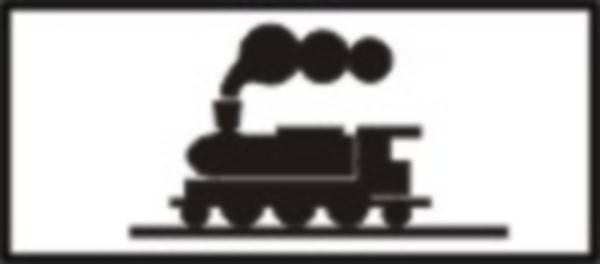 """Se instaleaza impreuna cu indicatorul """"Alte pericole"""" si semnalizeaza o trecere la nivel cu o cale ferata industriala."""