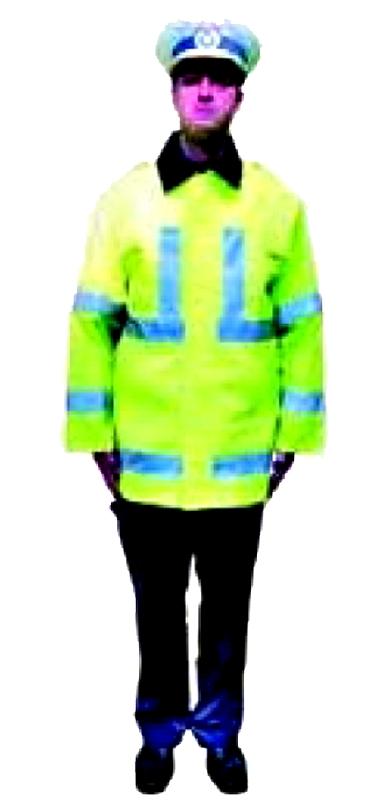 """Bratele in prelungirea corpului (pozitia de drepti), indica """"Oprire"""" atat pentru participantii la trafic care se apropie de intersectie indiferent de directia din care circula cat si pentru cei surprinsi in intersectie de acest semnal ( semnalul este similar cu lumina de culoare rosie a semaforului)."""