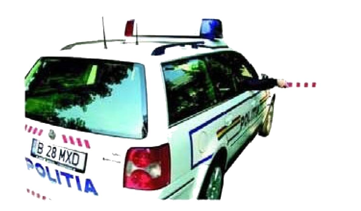 Balansarea bastonului reflectorizant sau a bratului semnifica oprire: a) dat din partea dreapta a vehiculului politiei - pentru cei din spate;  b) dat din partea stanga a vehiculului politiei - pentru cei din fata   sau cei care circula pe banda/benzile din stanga in acelasi sens.