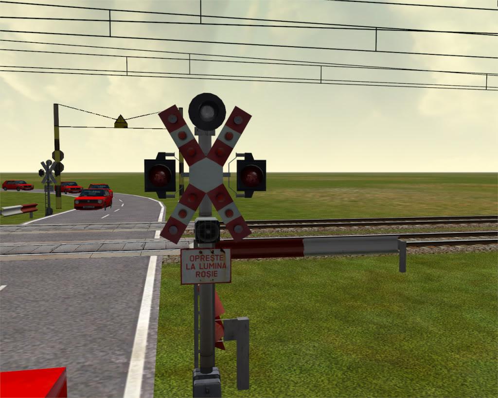 Semnalele lampilor cu lumina alba intermitenta de la treceri la nivel cu calea ferata permit traversarea caii ferate. Functioneaza atat timp cat lampile de culoare rosie sunt stinse.