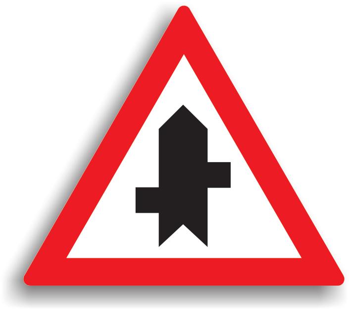 Se instaleaza in afara localitatilor, pe drumurile cu prioritate, la 100-200 m de intersectia cu un drum fara prioritate si are rolul de a confirma prioritatea celui care intalneste acest indicator.