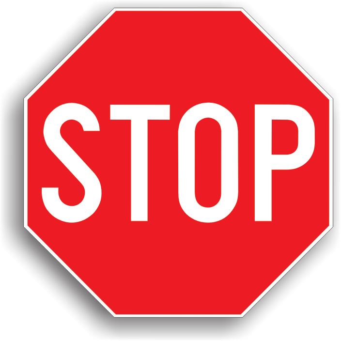 Este instalat pe drumul public fara prioritate, la intersectia acestuia cu un drum public prioritar, cand vizibilitatea este redusa. Conducatorul de vehicul care intalneste acest indicator este obligat sa opreasca in locul cu vizibilitate maxima, fara a depasi coltul intersectiei, si sa acorde prioritate tuturor vehiculelor care circula pe drumul prioritar.