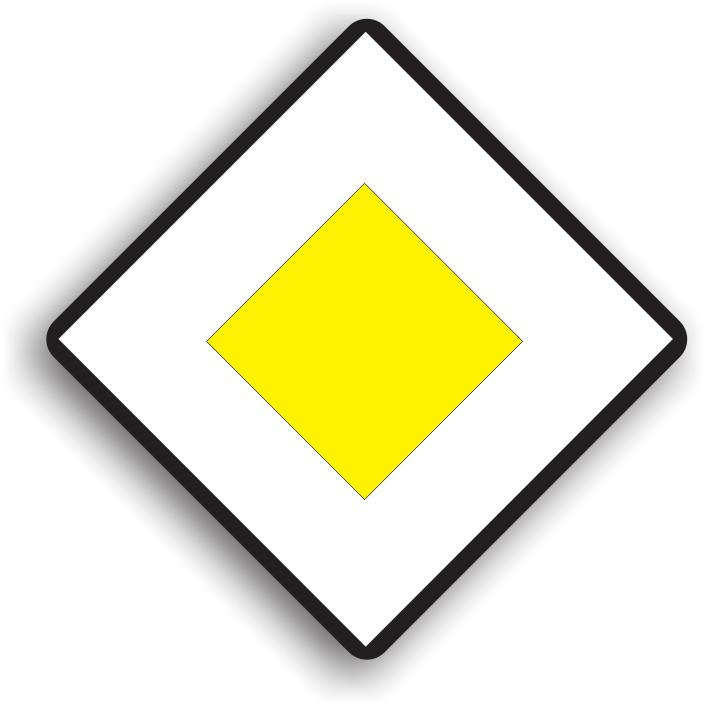 """Se instaleaza la inceputul drumului cu prioritate sau inaintea intersectiilor cu un drum fara prioritate. Are rolul de a anunta conducatorul auto ca are prioritate in intersectiile in care va patrunde. Drumurile care intersecteaza drumul cu prioritate vor avea instalate unul dintre indicatoarele """"Oprire"""" sau """"Cedeaza trecerea"""". Cand este amplasat inaintea unei intersectii, acest indicator poate fi insotit si de un panou aditional care va preciza directia drumului cu prioritate."""