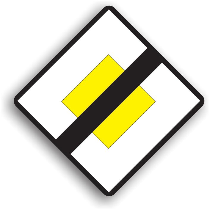 """Se amplaseaza la 50-200 m de locul unde inceteaza semnificatia indicatorului """"Drum cu prioritate"""", avand rolul de a informa conducatorul auto ca in urmatoarea intersectie in care va patrunde, toate drumurile vor fi de aceeasi categorie si se va aplica regula prioritatii de dreapta."""