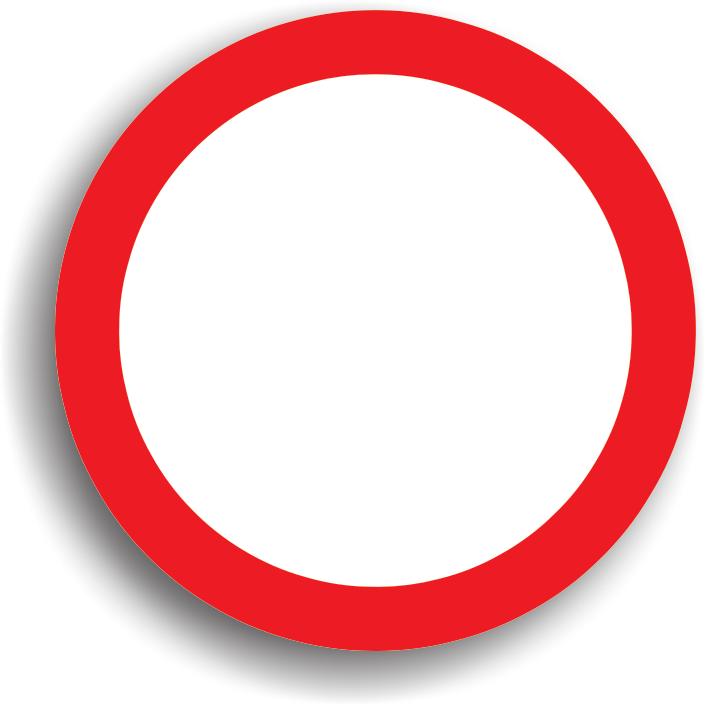 Se amplaseaza la intrarea pe drumurile publice pe care accesul tuturor vehiculelor este interzis in ambele sensuri. Se poate permite accesul riveranilor (persoanele care locuiesc in zona). Acest indicator poate fi insotit si de un panou aditional pe care sunt precizate categoriile de autovehicule exceptate.