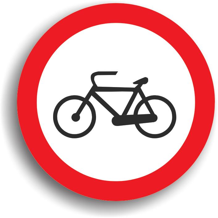 Se intalneste la intrarea pe drumurile publice pe care accesul bicicletelor este interzis.
