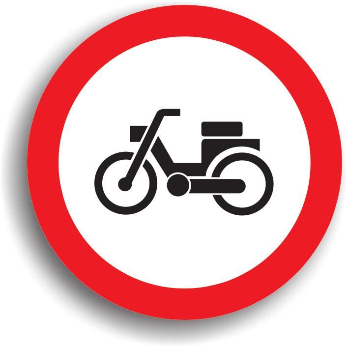 Se amplaseaza la intrarea pe drumurile publice pe care accesul mopedelor este interzis.