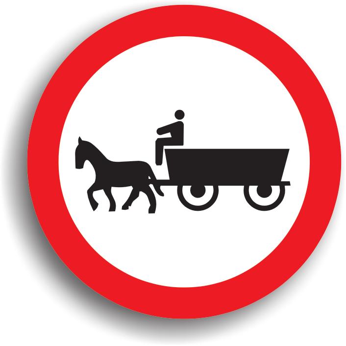 Se monteaza la intrarea pe drumurile publice pe care accesul vehiculelor cu tractiune animala este interzis.