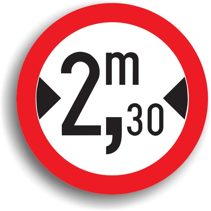 Se amplaseaza pe sectoarele de drum cu latime redusa, precum si in intersectiile care preced aceste sectoare de drum. In cel de-al doilea caz, indicatorul este insotit de un panou aditional pe care este precizata distanta pana la locul periculos. Latimea inscrisa pe indicator este cu 0,8 m mai mica decat latimea libera de trecere asigurata pe sectorul de drum respectiv.