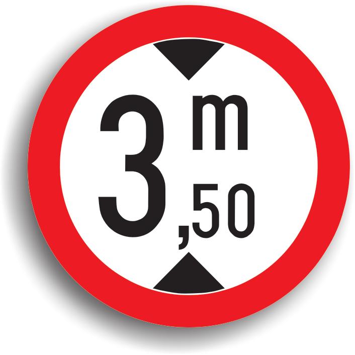 Se monteaza pe sectorul de drum cu inaltime mai mica de 5,10 m (capetele podurilor, pasaje inferioare, etc.), precum si in intersectia care il precede. In cel de-al doilea caz, indicatorul este insotit de un panou aditional pe care este precizata distanta pana la locul periculos. Inaltimea inscrisa pe indicator este cu 5 cm mai mica decat inaltimea de libera de trecere asigurata pe sectorul de drum respectiv.