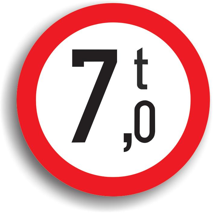 Poate fi intalnit pe sectorul de drum pe care este interzis accesul vehiculelor cu o masa mai mare decat cea inscriptionata pe panou, precum si in intersectia care il precede. In cel de-al doilea caz, indicatorul este insotit de un panou aditional pe care este precizata distanta pana la locul periculos.