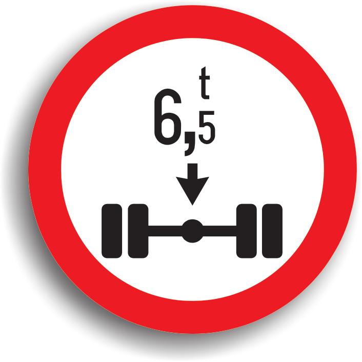 Are rolul de a preciza inceputul sectorului de drum pe care este interzis accesul vehiculelor cu o masa pe osia simpla mai mare decat cea inscriptionata pe panou.
